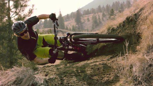 Matt Hunter Going Around a Corner on his Bicycle